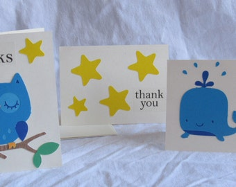 Handmade Thank you Cards - set of 3