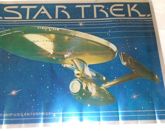 Rare 1979 star trek foiled movie poster