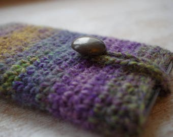 hand knit cell phone iphone smartphone slip case knitted universal size Mother's day