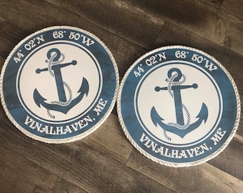 Anchor Coastal Coordinate Sign