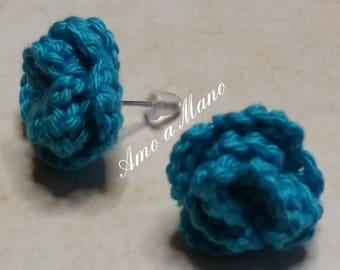 Crochet Roses Earrings