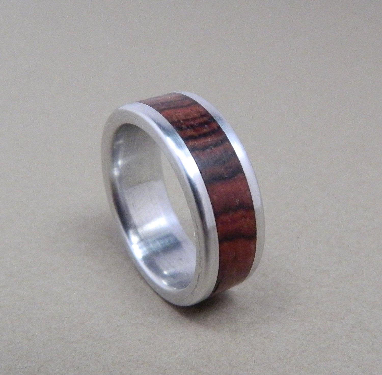 Wood Ring Aluminum Ring Wedding Ring Wooden Ring Wood