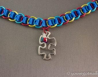 Autism Awareness Ribbon Choker