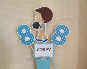 Girls or Boys Bowling Party Centerpiece Decoration