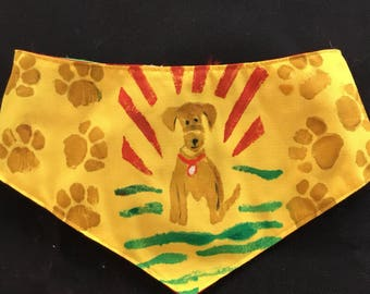 QK3-1715 M The Tracking Dog Quilt-Kerchief
