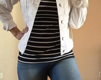 New white denim jacket 100%cotton nwt