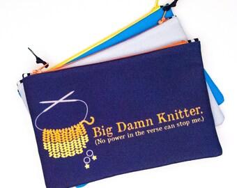 Zipper Bag, Big Damn Knitter, Firefly Fan, Notions Bag