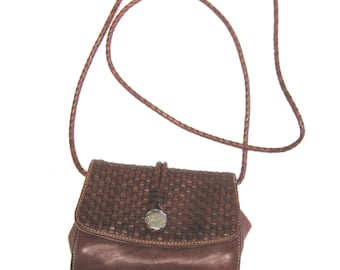 Brown Leather Purse Harolds Made In Italy