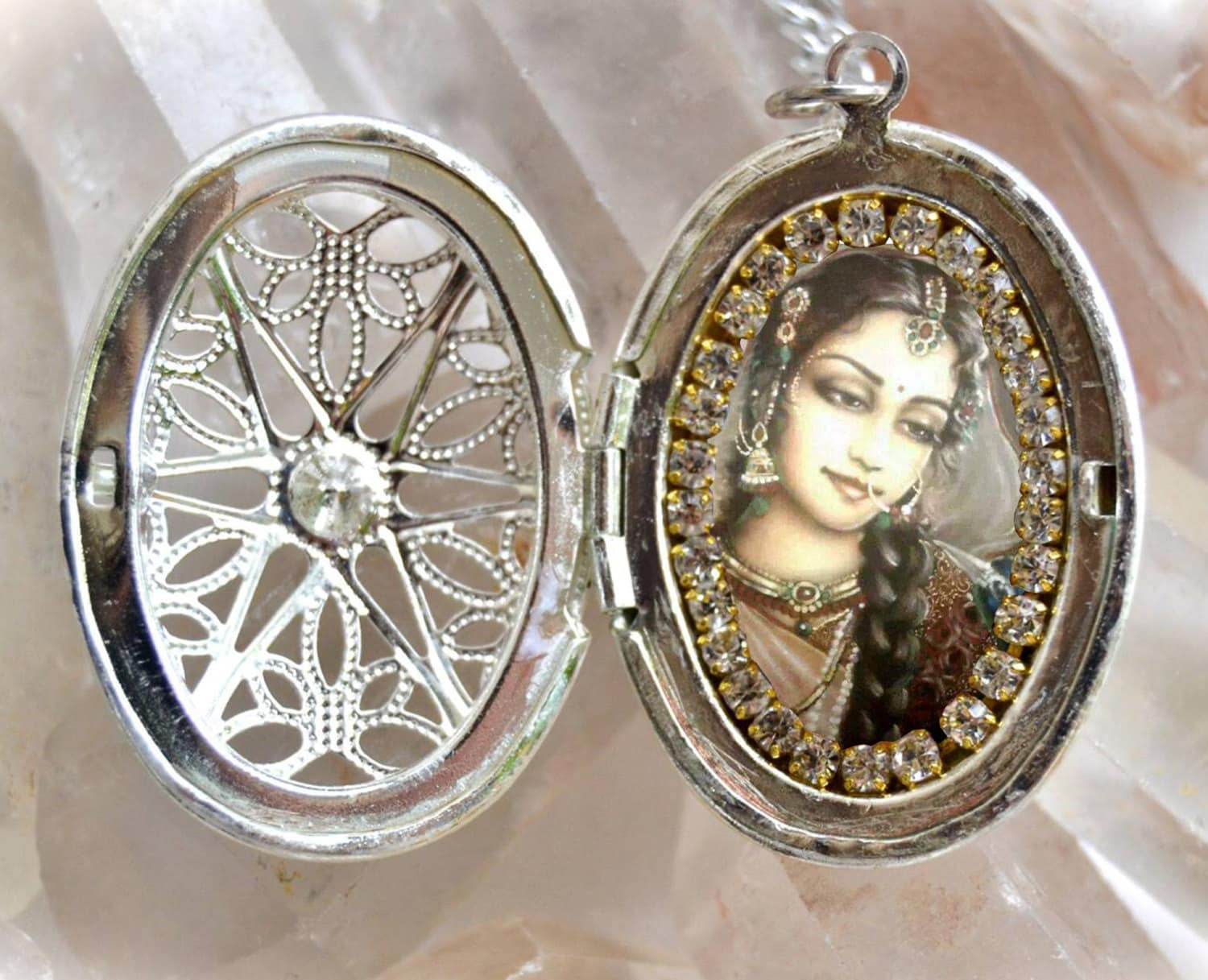 nature photo lockets locket millner inspired beth jewelry by cave ice handmade eben collections