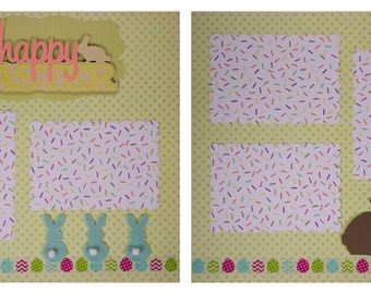 Pre-made Scrapbook Pages: Happy Easter 2