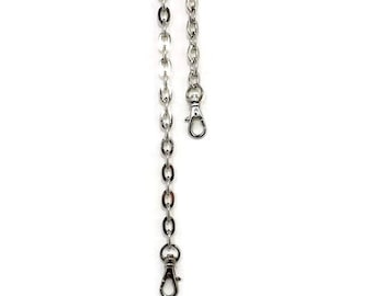 44 Inch 12mm Oval Link Nickel Purse Chain