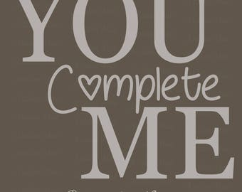 You Complete Me - Custom Pallet Wood Sign