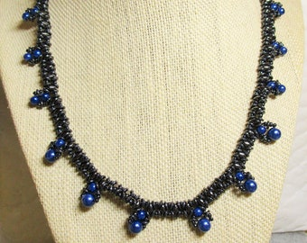 Lovely Blue Pearl Necklace