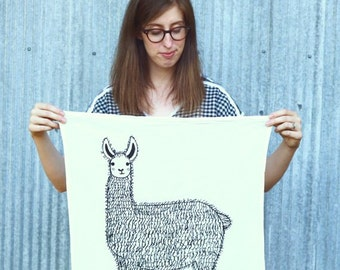 Llama Tea Towel, Llama Dishcloths, Llama Kitchen Towel, Llama Dishcloths, Alpaca Dish Cloth, Alpaca Lovers, Gift For Her
