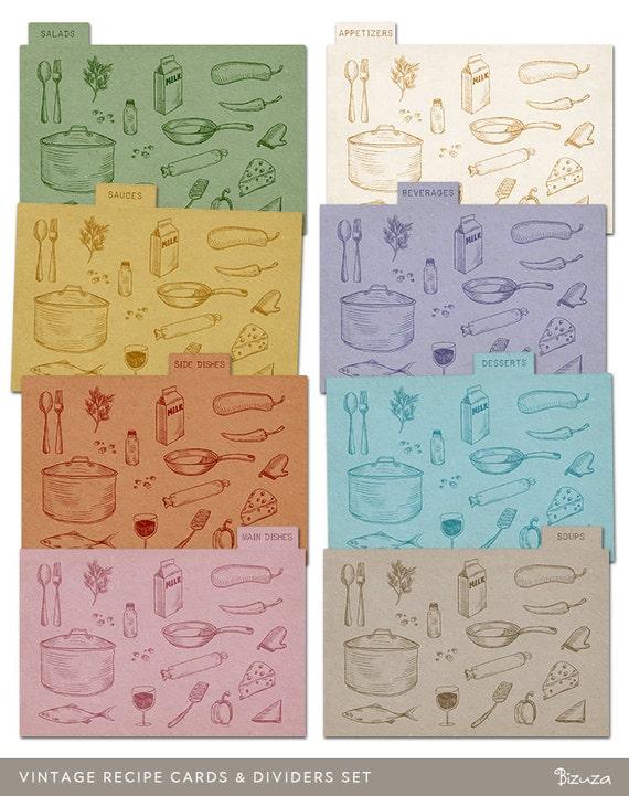 recipe card dividers 4x6 sante blog