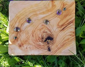 Dewdrops on Wood - Photo Print Beaded Bag