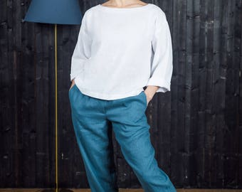 Softened Linen Trousers.