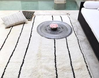 Beni Ouarain authentic Berber Moroccan Rug, beni ourain Berber carpet, Moroccan carpet, Wool Rug