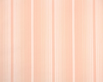 1930s Vintage Wallpaper by the Yard - Peach Stripe