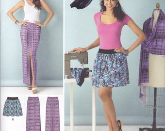 Simplicity 1368 Vintage Pattern Womens  Straight Skirts in 4 Variations Size 6,8,10 UNCUT