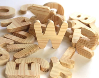 Wooden English ABC / Educational Toys / Wooden Alphabet Letter Set / Gift for school / Montessori educational toy