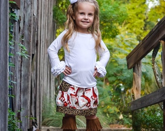 Girls Christmas Outfits - Girls Holiday Outfit - Girls Christmas Skirt - Christmas Boutique Outfit - Christmas Gifts For Kids - Santa Outfit