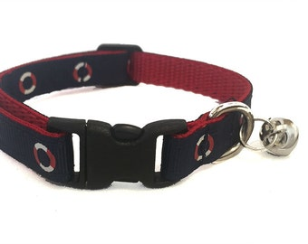 Nautical Cat Collar Breakaway