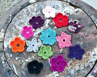 Crochet Interchangeable Flowers - set of 3 Flowers