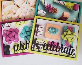 Gender Neutral Hand Made Birthday Cards, Feminine Birthday Cards, Masculine Birthday Cards, Hand Made Birthday Greeting Cards, Hand Made