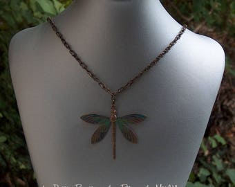 Pendant Dragonfly - multicolor Dragonfly and chain