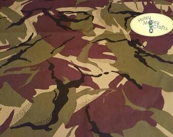 Camouflage Cotton Drill Fabric - per 1/2m