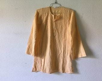 Vintage Blouse - 70s Cotton Gauze Indian
