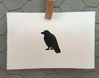 Crow Watercolour Art Card