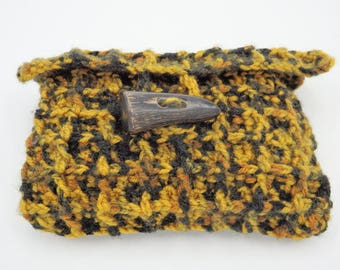 Crocheted clutch bag Handknit accessory for her girlfriend handmade gift for her