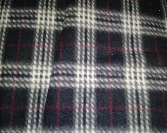 Black Plaid Fleece Fabric
