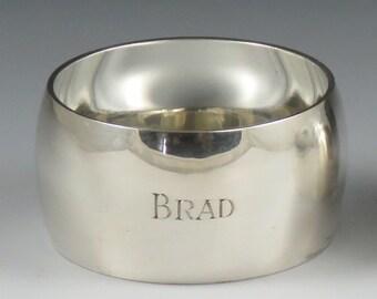 Vintage Tiffany & Co Sterling Silver 'Brad' Mono Napkin Ring