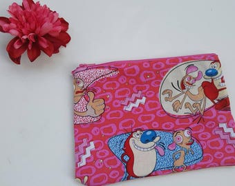 The 90s Ren and Stimpy zipper pouch