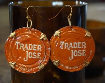 Trader Joe's Beer Cap Earrings