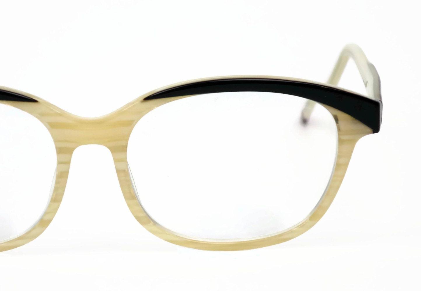 Vintage Brillen 80er 90er Jahre Zenni Kunststoff-Gläser