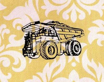 Truck Stamp: Wood Mounted Rubber Stamp