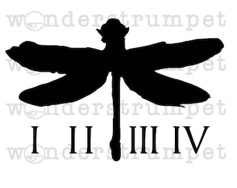 Coheed and Cambria Inspired Dragonfly Stencil