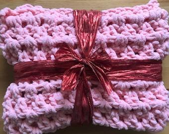 Handmade fluffy cloud baby blanket
