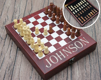 Personalized Chess Set including Engraved Case with Monogram Design Options (Each)
