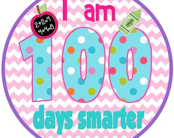 Chevron Pink100 Days Smarter Iron on