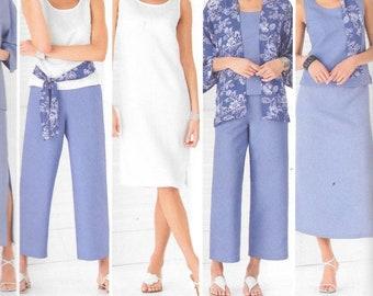 Simplicity 4552 Tank Top Dress Kimono Jacket Cropped Pants Sewing Pattern UNCUT Full Figure Plus Size 20, 22, 24, 26, 28