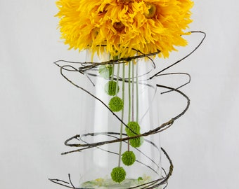 Floralistic - Artistic Yellow Gerbera Artificial Flower Arrangement