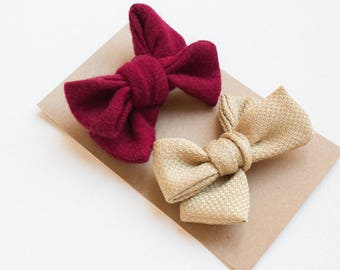 Gold Bow | Hair Clips | Clips | Barrettes