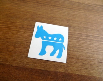 Democratic Donkey Vinyl Decal - Choose Your Color and Size