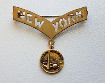 New York Worlds Fair Brooch Pin