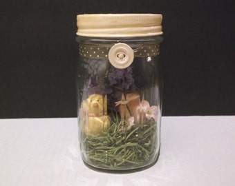 Easter Handcrafted Decor In Crown Mason Jar